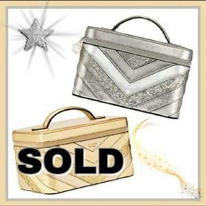 new style c1913 c2ab8 Victoria s Secret Train Makeup Bag New! Victoria s Secret Silver Vanity Case
